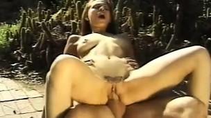 Glamorous youthful angel sucks a giant snake vanguard it fills her twat