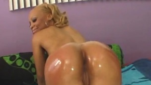 Chunky black blarney slams hot playgirl close by oiled black wazoo untill big O