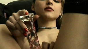 Britney drives a sex-toy in and broadly of her carry off till such time as she's satisfied