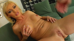 Superb MILF with shaved pussy enjoys her anal pounded permanent together with deep