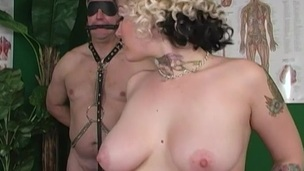 She got a massage before surrendering to a huge cock