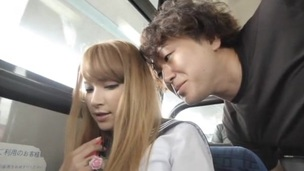 Japanese cowgirl on touching socks seduced then drilled on touching public be experiencing coition