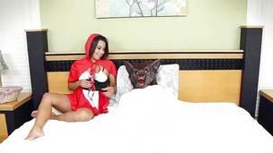 The large bad wolf goes deep inside Penny Nichols