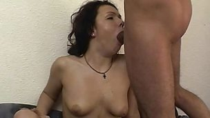 Nasty unskilful devours this hard dick