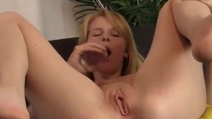 Blonde honey dildoing Her grunt And anus Looking For Climax