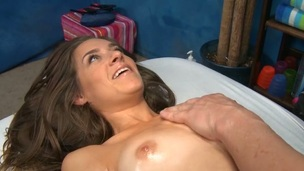 Lass is moaning wildly as this babe gets coarse fucking pleasures