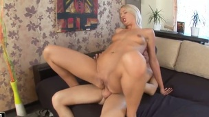Blond asks her man to prick her appealing throat