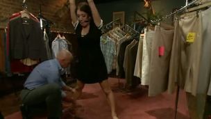 Amy Brooke gets caught shoplifting in the wrong boutique and ends up paying be fitting of it through hard bondage, ass fucking and domination. She is objectified by being put on display