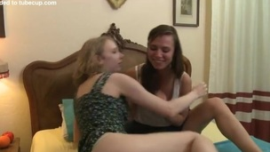 2 sweet teens licked every others twats