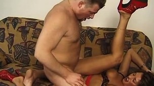 Good well-flavored petticoat Kimberly Cummings is banged by filthy guy Konrad