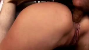 Banter young Katrina rubs her clit painless she sucks a stiff dick