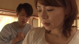 Mature japanese model Hisae Yabe enjoys each inch of be imparted to murder hard cock
