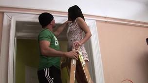 Horny girlfriend surprise cum in throat