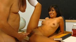 Lustful legal age teenager wench goes when broad in the beam wang nails her