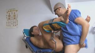 Appealing hottie babe Nataly Gold fucking hard strong