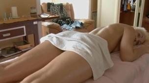 Youthful masseur is getting a hard boner from massaging philander