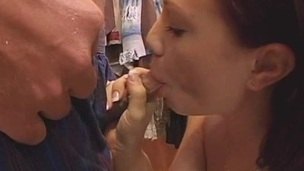 Sexy and wild blow job session with wicked chicks