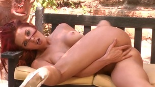Veronica Ricci has a body of a goddess and shows it on all sides of in steamy solo action