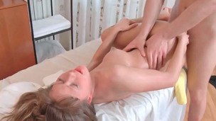 Jessy screaming like insane whilst receiving sausage in her pussy