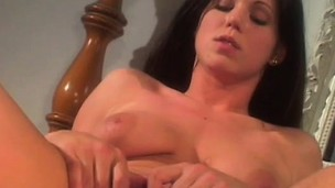 Hawt brunette coed trades head and gets will not hear of hairless cunny nailed and eats cum