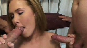 Sasha Knox enjoys being treated like a slut in a grotesque trio