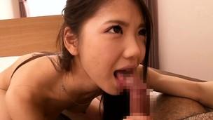 Shy japanese newbie Ena Sakura facialized
