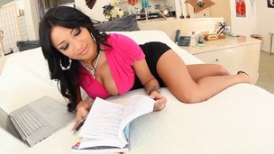 Anissa Kate puts her work aside to she can engulf some cock