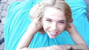 Spunking over cute blond teen Alina West