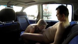 Tattoed Slutty Teen Screwed in Parking Lot