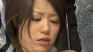 Miku Misato plays tool while having other inside pink