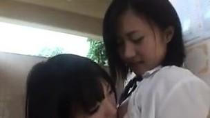 Cute Japanese Schoolgirls Being Naughty