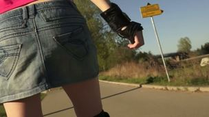 Out for a airing on roller skates puts Katie into plain view for those to appreciate her long, legal age teenager legs, barely overspread by a snappish skirt. She ends everywhere decisiveness a sexual playmate.