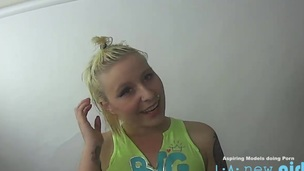 CUTE BLONDE Screwed IN THE Arse Readily obtainable REHEARSAL CASTING AUDITION