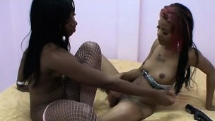 Formal lesbo in white fishnets Tay Dash is drilled at the end of one's tether Jennifer Jons