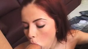 Hung stud Andrew has two lustful babes blowing and fucking his prick