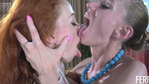 Two lesbian friends get rid of their clothes and have a fun the taste of each other's cunts