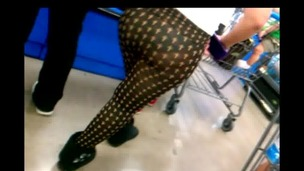 Mexican Teen in watch thru Leggings