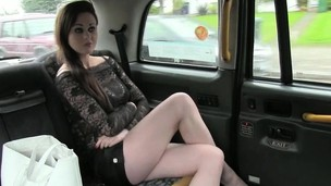 Skanky amateur coming anal pounded for a free taxi fare