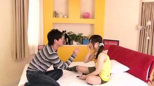 Tiny Japanese Miku Airi enjoys sixtynine