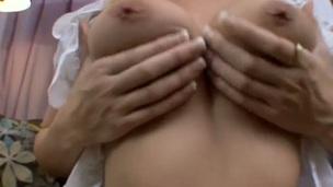 Blonde Kodi Gamble marauding down beside her naked skin