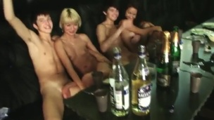 A group be required of students went to a difficulty sauna to celebrate a difficulty end be required of a difficulty year. They drink a lot and stay naked, because its sauna. Some cocks begin to become erect and a difficulty act starts!