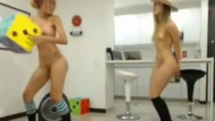 2 marvelous nubiles cowgirl lesbos