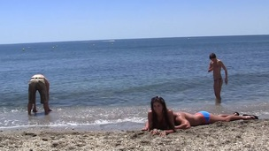 Agnessa & Carla & Leila in sexy student cutie enjoys an outdoor orgy