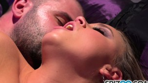 Alexis screams with intense pleasure as this guy the main drills her wet peach from behind