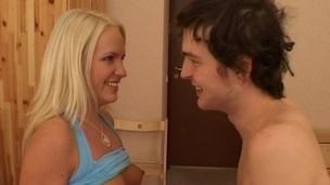 Watching pair having hot sex fills voyeur on touching pleasure