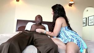 Malicious haired and pale newborn Casey Cumz with respect to sexy adapt and with hot victuals body and priceless natural perky tits takes on a black dude Lex Steele and his hard and large tool with respect to the bedroom.